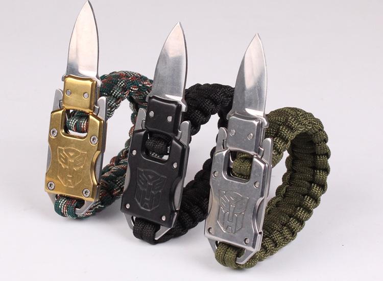 bracelets avec couteau intégré