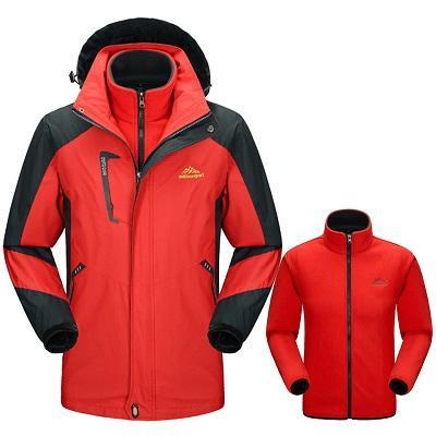 veste thermique rouge