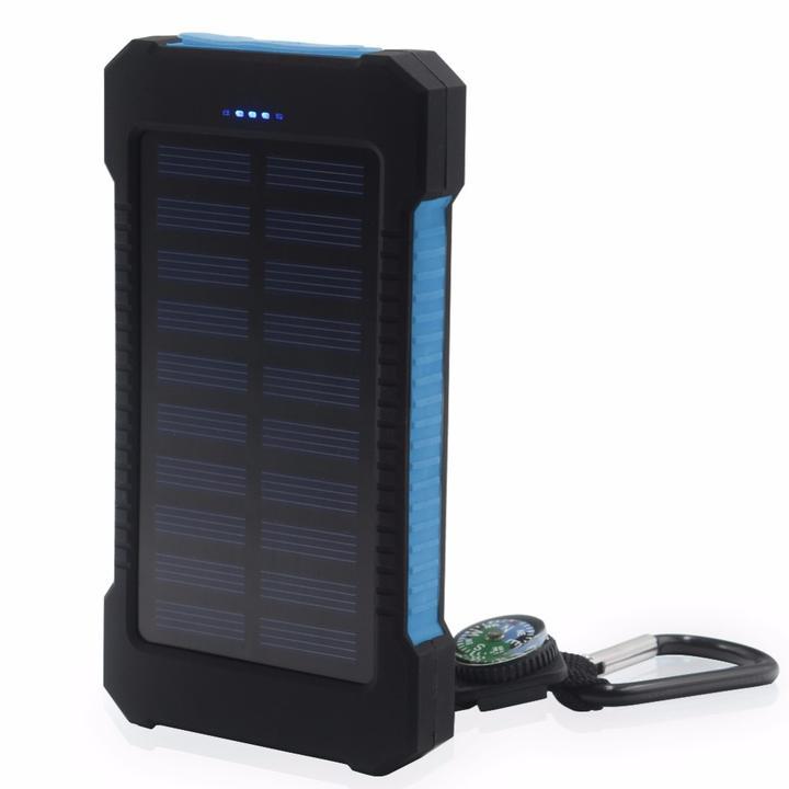 baterie solaire bleue