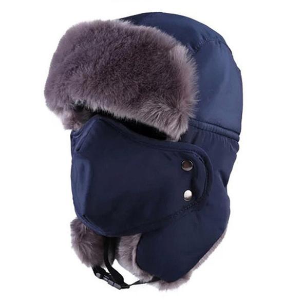 chapeau hivernal bleu