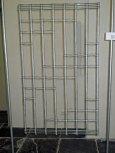 Rita Kok, Weefstuk Zwart/wit, vissnoer en linnen, lengte 120 cm, breed 70 cm.
