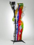 """Louis la Rooy, """"Summertime"""", Streamer, gefused glas, hoog 80-cm."""