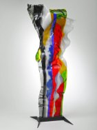 "Louis la Rooy, ""Summertime"", Streamer, gefused glas, hoog 80-cm."