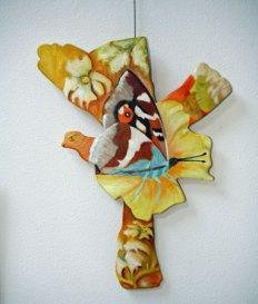 """Anne-Maria Waterreus, """"Vlindervogel"""", olieverf op canvas op paneel, 60 x 80 cm."""