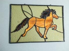 """Harm van Kamp, """"Paard"""", Tiffany, 40 x 28 cm. n.t.k."""
