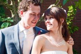 Het gelukkige Bruidspaar.