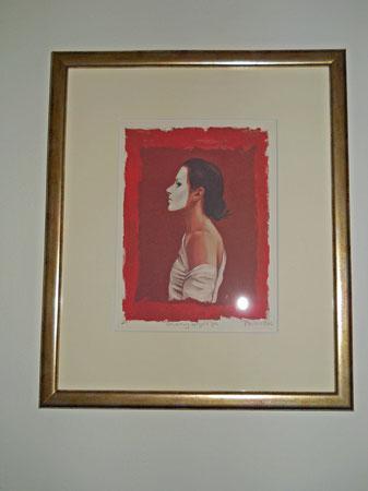 """Ans Markus, gesigneerde print van schilderij """"Masker""""."""