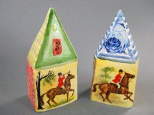 "Anna Volkova, porseleinen miniaturen, handbeschilderd, ""Ruiters""."