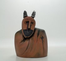 "Maurice la Rooy, ""Native Inhabitant"", hg 24 cm."