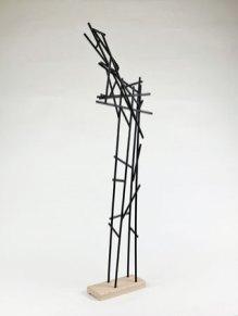"""Largo"", Object in hout, zwart gelakt. 2016 78 x 25 x 10 cm"