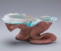 """Bergsee"", keramiek/glas, 11x20x15 cm."