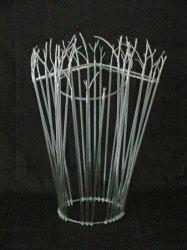 Metaal, Glasstaafjes, verzilverde takjes.