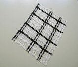 Weefkunst 'Zwart-wit rechthoek 19-07-15', 55x34 cm.