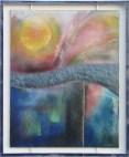 Een nieuwe dag - emaille - 47 x 57 cm