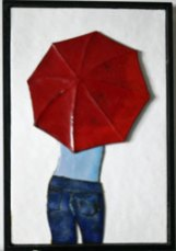 Meisje-paraplu