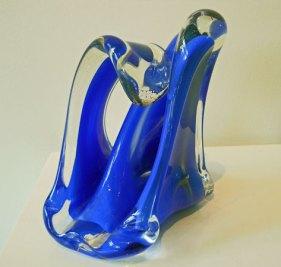 Skulptur Nr. 5617 - Geblazen en vervormd glas, 26 x 23 x 18 cm.