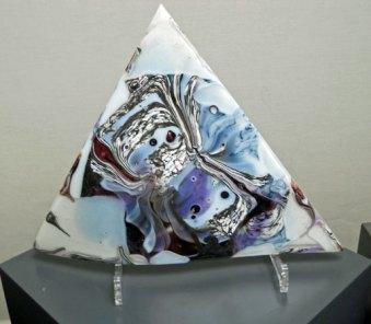Driehoek--perspex-steun