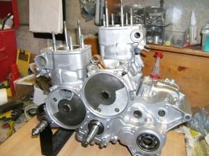 This a dual disc valve set up (a newer Suzuki Rg500 engine)