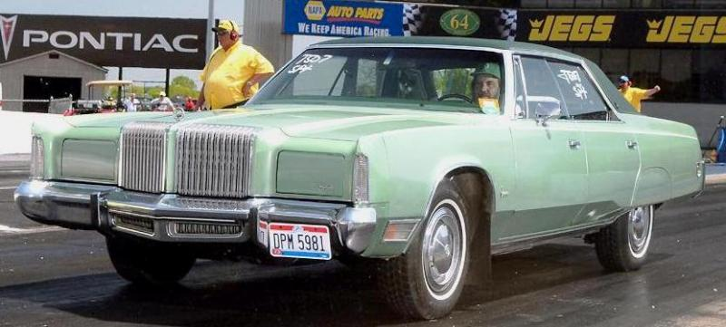 1975 Chrysler Imperial - yes it's on the drag strip.