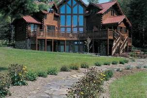 custom log home - Adrian exterior