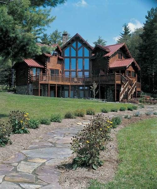 Adrian Custom Log Home - Residential New Home Construction - Aver Contracting