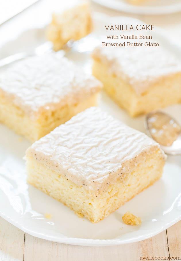 Moist Vanilla Cake From Scratch Amp Browned Butter Glaze