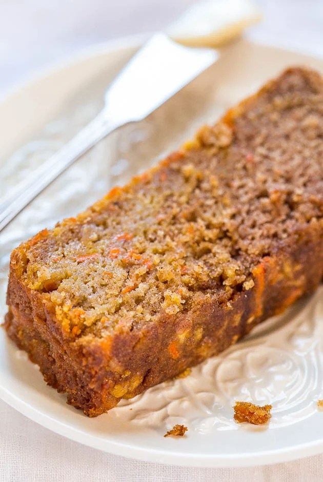 Carrot Apple Bread   Averie Cooks Carrot Apple Bread   Carrot cake with apples added and baked as a bread so  it s