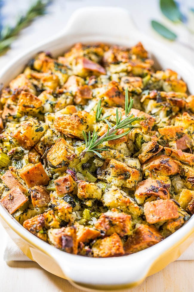 Classic Traditional Thanksgiving Stuffing   Averie Cooks Classic Traditional Thanksgiving Stuffing   Nothing frilly or trendy   Classic  amazing  easy