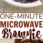 Microwave Brownie In A Mug 1 Minute Recipe Averie Cooks