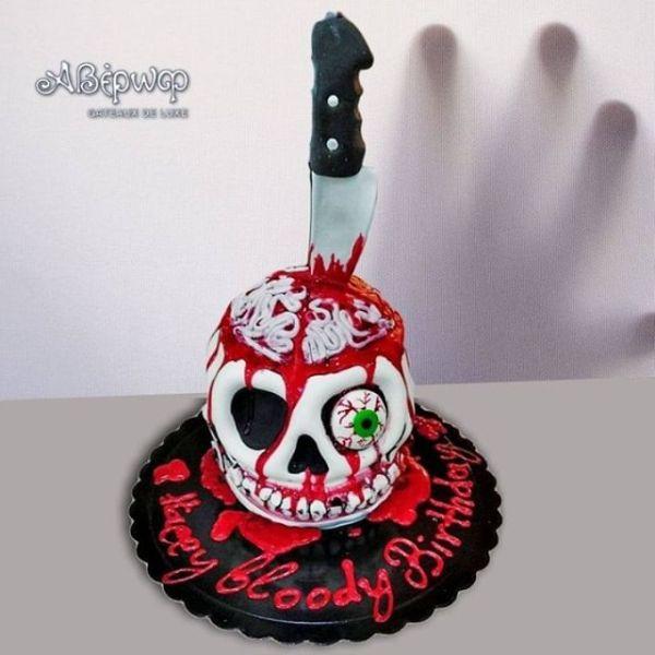 Τούρτα Bloody Birthday Σχέδιο 3D