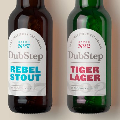 DubStep Beer with branding by Avery WePrint custom labels