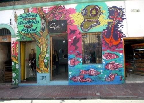 clothing store graffiti