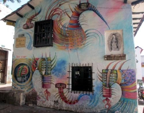oldest house in bogota graffiti