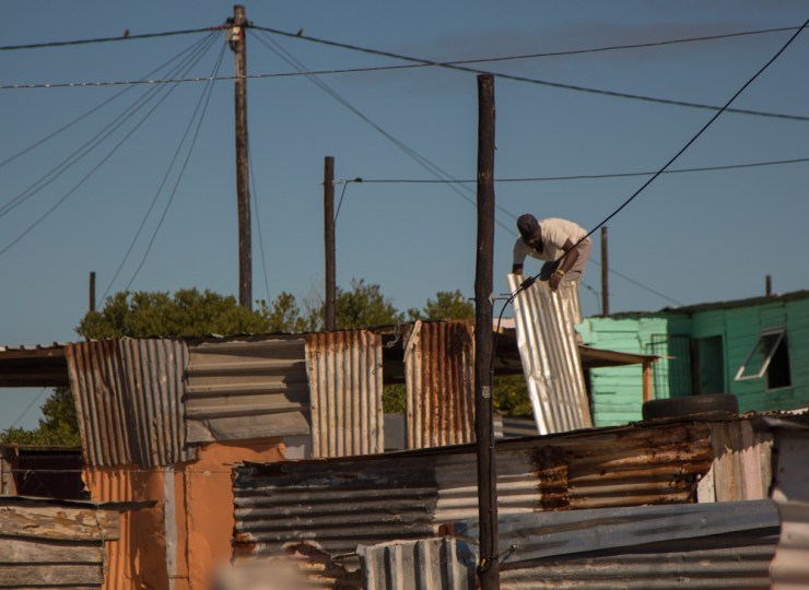 cape town langa township shanty construction