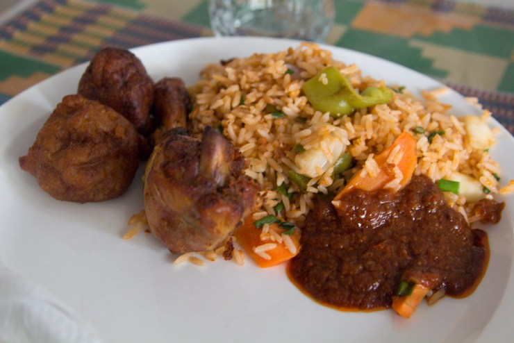 ghana jollof rice with chicken
