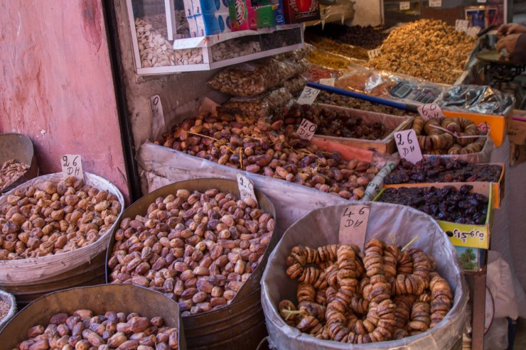 morocco market dried fruits