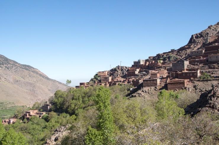 morocco mountain berber village