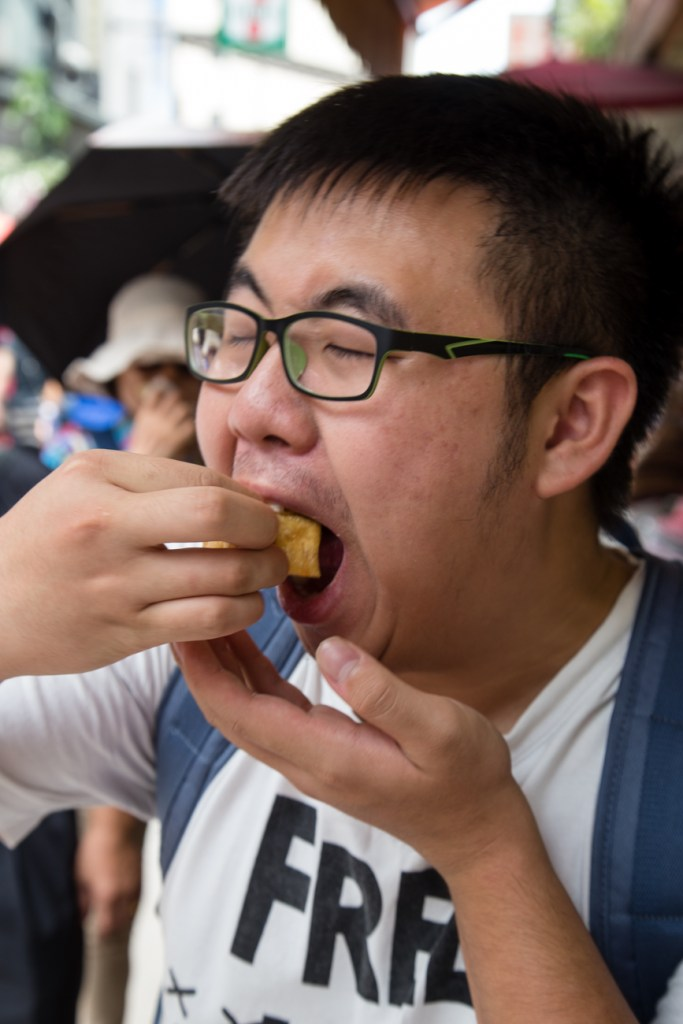 Taiwan Host Family Billy Eating Stinky Tofu