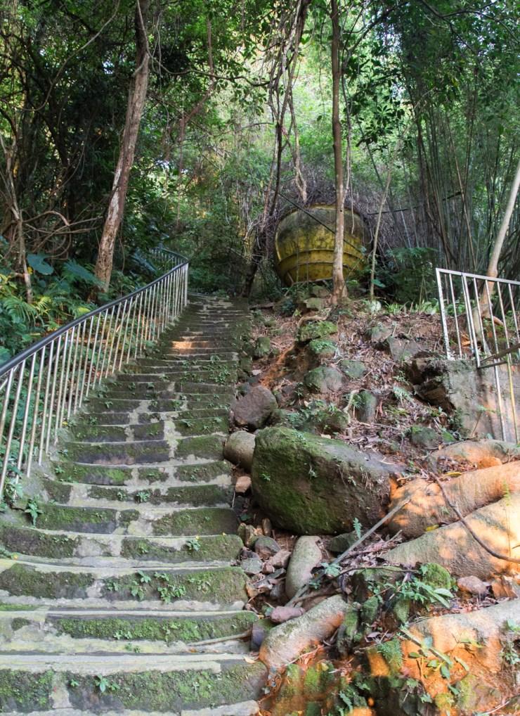 elephant mountain steep stairs