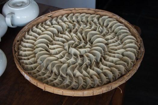 myanmar handmade dumplings plate