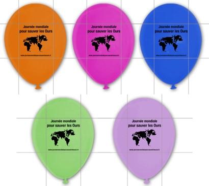 Journee Mondiale ours - ballons de baudruche