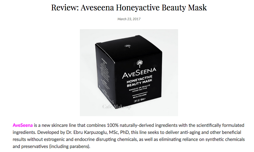 Cafe Makeup Honeyactive Beauty Mask Review