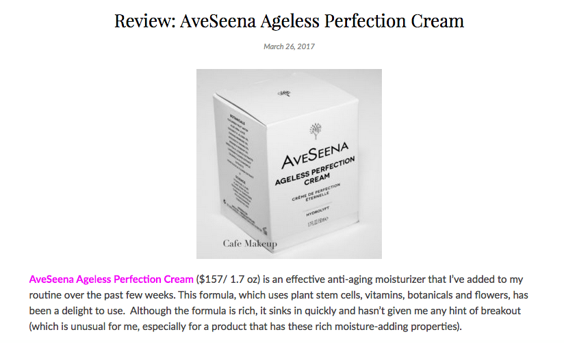 Cafe Makeup Ageless Perfection Cream Review