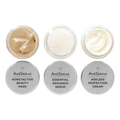 aveseena skincare sample discovery natural jetsetter travel kit