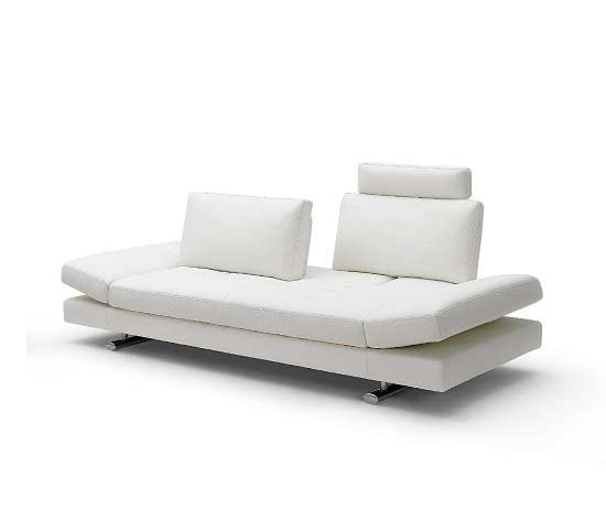 White Leather Sofa Bed Kuka 1510 Beds