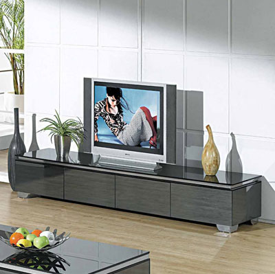 Modern Glossy Gray TV Unit CR067 TV Stands