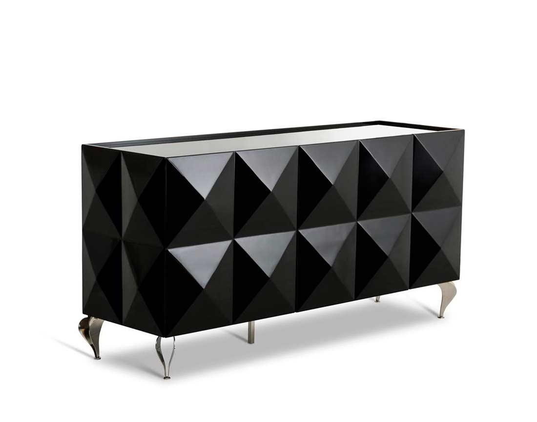 Black Lacquer High Gloss Buffet VG504 Modern Buffets