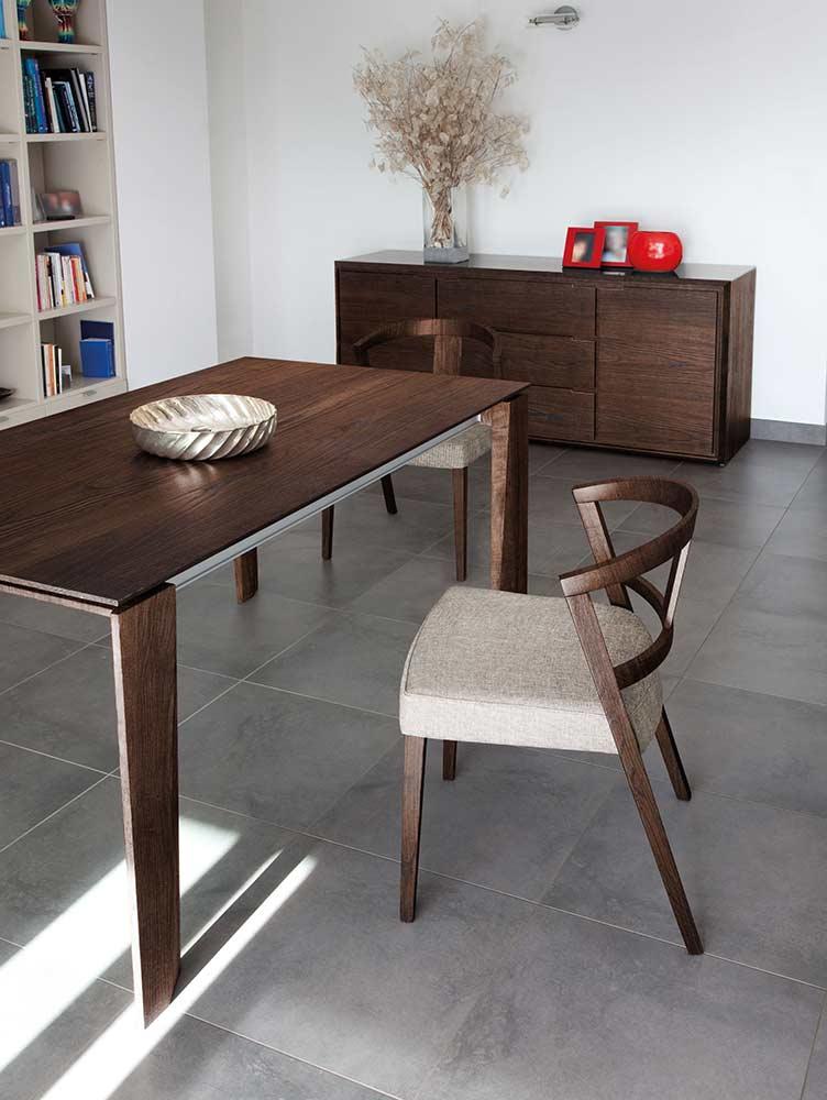 Maxim 182 Walnut Dining Table By Domitalia Domitalia