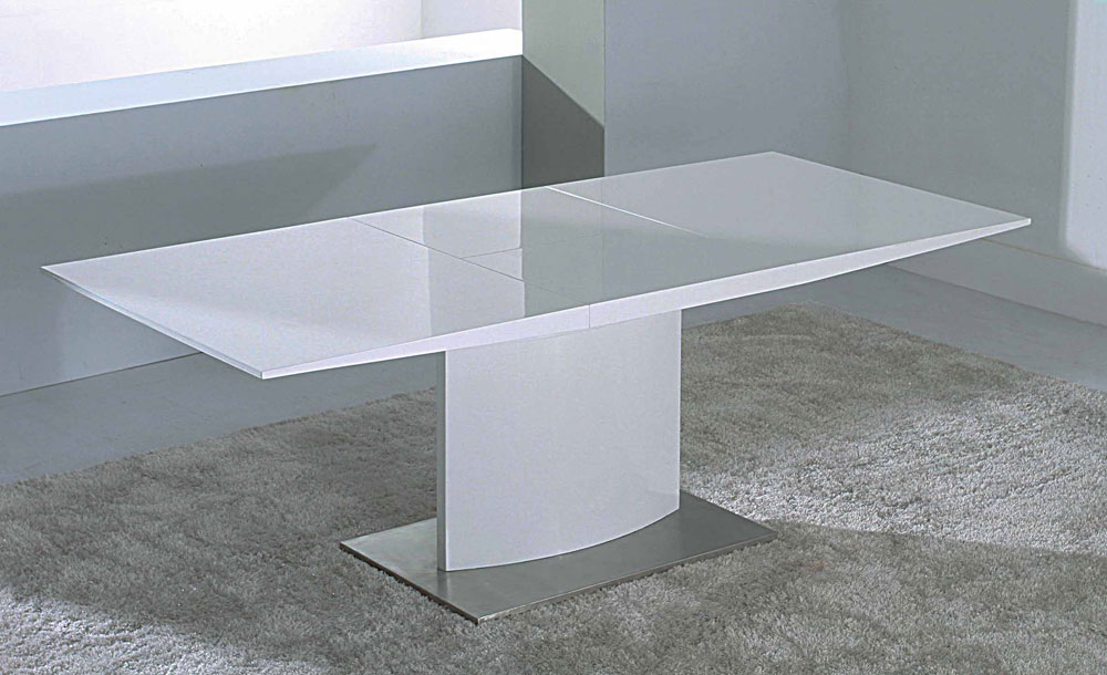 Modern Extendable White Lacquer Dining Table CR2014
