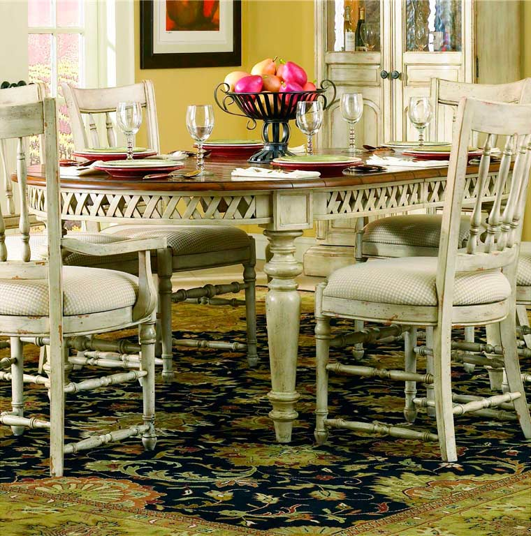 Summerglen Extendable Dining Table In Antique White By Hooker Furniture Hooker Dining Room